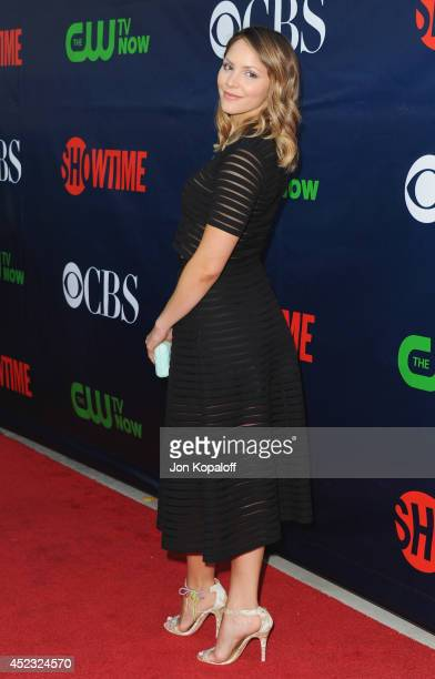 Actress Katharine McPhee arrives at the CBS The CW Showtime CBS Television Distribution 2014 Television Critics Association Summer Press Tour at...
