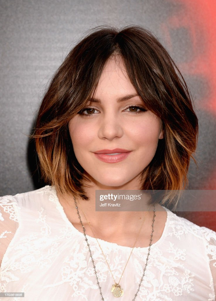 Actress <a gi-track='captionPersonalityLinkClicked' href=/galleries/search?phrase=Katharine+McPhee&family=editorial&specificpeople=581492 ng-click='$event.stopPropagation()'>Katharine McPhee</a> attends HBO's 'True Blood' season 6 premiere at ArcLight Cinemas Cinerama Dome on June 11, 2013 in Hollywood, California.