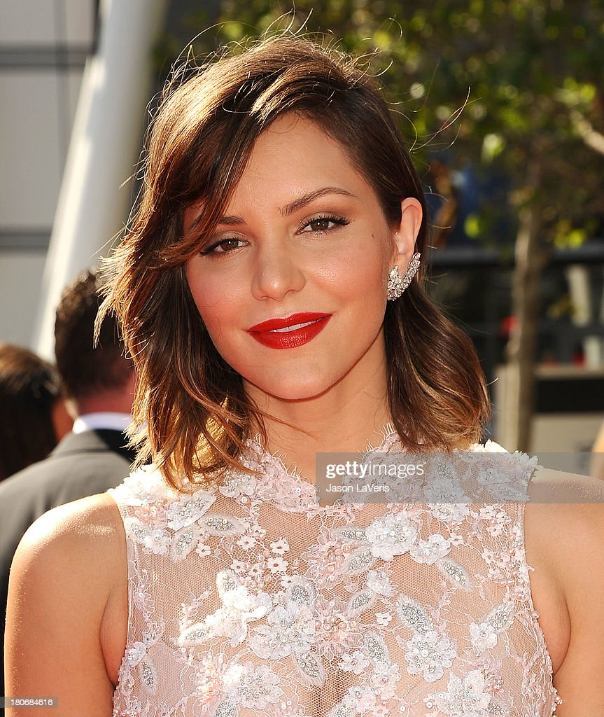Actress <a gi-track='captionPersonalityLinkClicked' href=/galleries/search?phrase=Katharine+McPhee&family=editorial&specificpeople=581492 ng-click='$event.stopPropagation()'>Katharine McPhee</a> attends the 2013 Creative Arts Emmy Awards at Nokia Theatre L.A. Live on September 15, 2013 in Los Angeles, California.