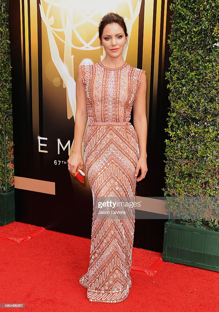 Actress Katharine McPhee attends the 2015 Creative Arts Emmy Awards at Microsoft Theater on September 12, 2015 in Los Angeles, California.