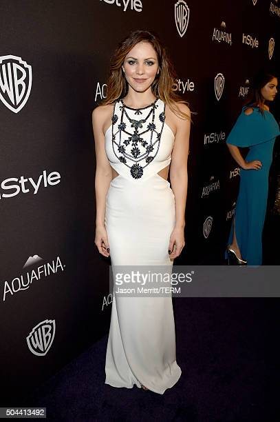 Actress Katharine McPhee attends The 2016 InStyle And Warner Bros 73rd Annual Golden Globe Awards PostParty at The Beverly Hilton Hotel on January 10...