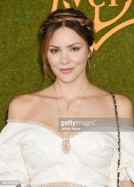 Actress Katharine McPhee attends the 8th Annual Veuve Clicquot Polo Classic at Will Rogers State Historic Park on October 14 2017 in Pacific...