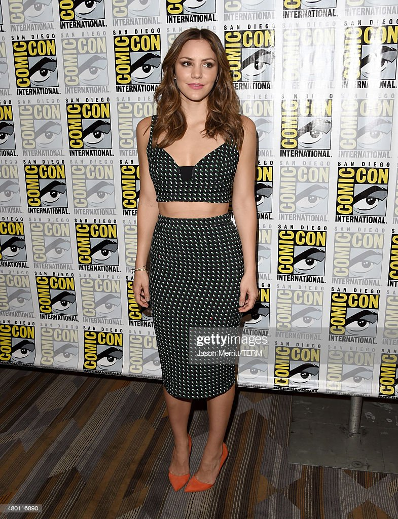 Actress Katharine McPhee attends the CBS Television Studios press room during ComicCon International 2015 at the Hilton Bayfront on July 9 2015 in...