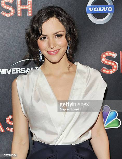 Actress Katharine McPhee attends the NBC Entertainment Cinema Society with Volvo premiere of 'Smash' at the Metropolitan Museum of Art on January 26...