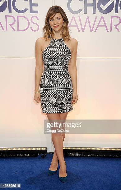 Actress Katharine McPhee attends the People's Choice Awards 2015 Nominations Press Conference at The Paley Center for Media on November 4 2014 in...