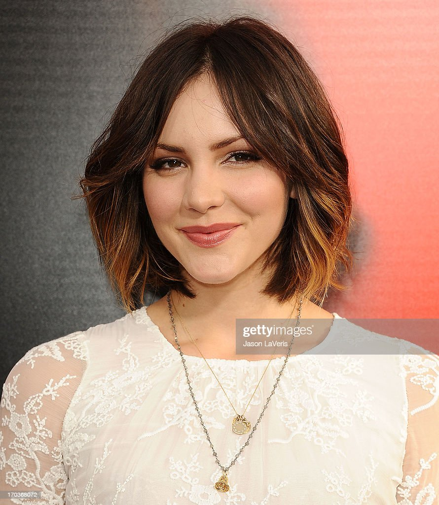 Actress Katharine McPhee attends the season 6 premiere of HBO's 'True Blood' at ArcLight Cinemas Cinerama Dome on June 11, 2013 in Hollywood, California.