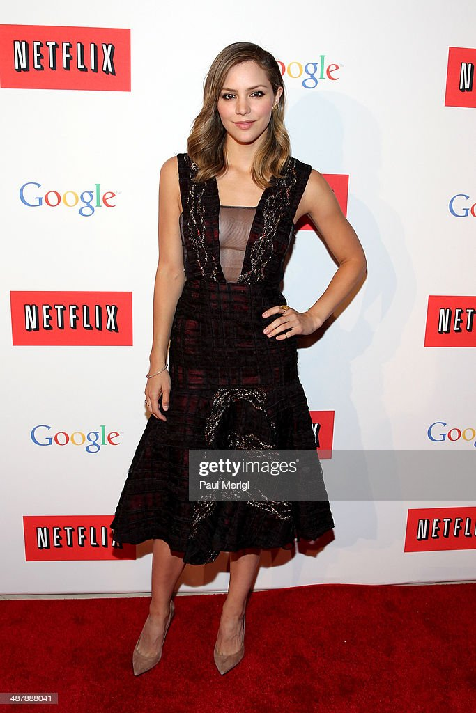 Actress Katharine McPhee walks the red carpet at Google/Netflix White House Correspondent's Weekend Party at United States Institute of Peace on...