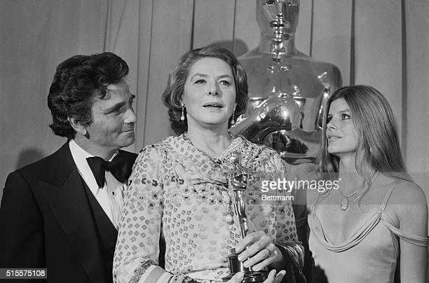 Actress Katharine Ross is among those who pay tribute to actress Ingrid Bergman at the Academy Awards Ceremonies in Los Angeles April 8 Miss Bergman...