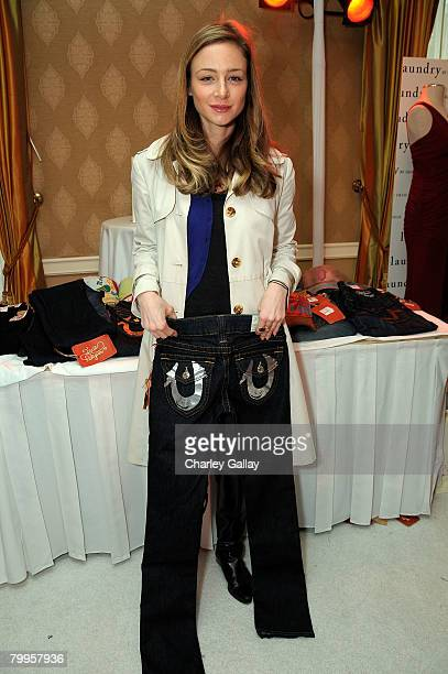 Actress Katharine Towne attends The Belvedere Luxury Lounge in honor of the 80th Academy Awards featuring True Religion Brand Jeans held at the Four...