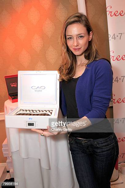 Actress Katharine Towne attends The Belvedere Luxury Lounge in honor of the 80th Academy Awards featuring CAO Cigars held at the Four Seasons Hotel...