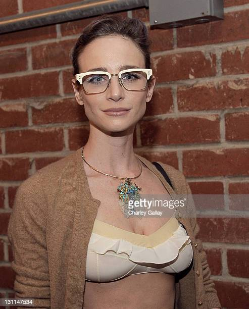 Actress Katharine Towne attends Warby Parker LA Launch at Confederacy on November 1 2011 in Los Angeles California