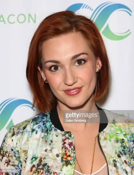 Actress Katherine Barrell attends ClexaCon 2017 convention at Bally's Las Vegas on March 3 2017 in Las Vegas Nevada