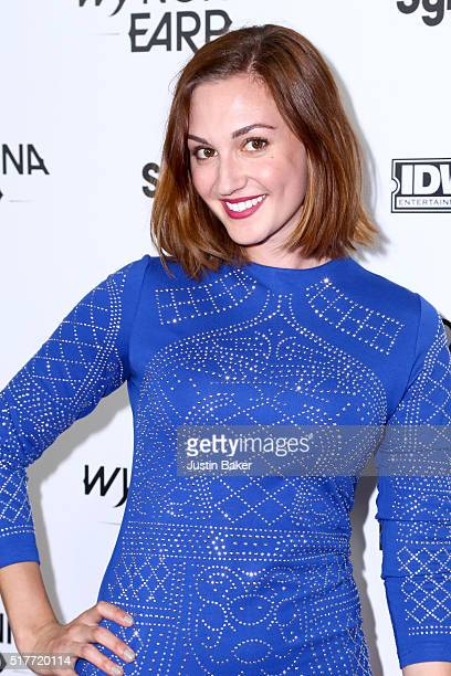 Actress Katherine Barrell attends the premiere of Syfy's 'Wynonna Earp' at WonderCon 2016 at Regal LA Live Stadium 14 on March 26 2016 in Los Angeles...