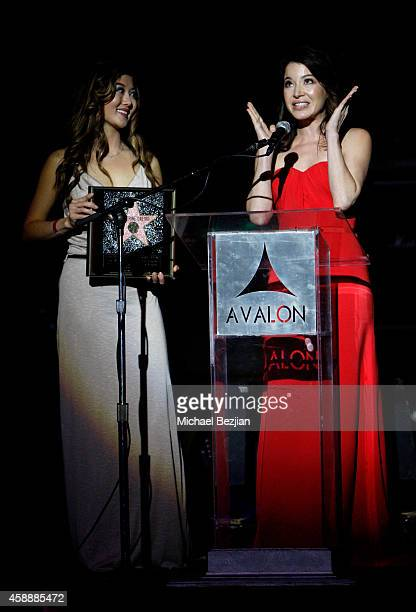 Actress Katherine Castro accepts an award onstage during Katherine Castro Receives Hollywood FAME Awards at Avalon on November 12 2014 in Hollywood...