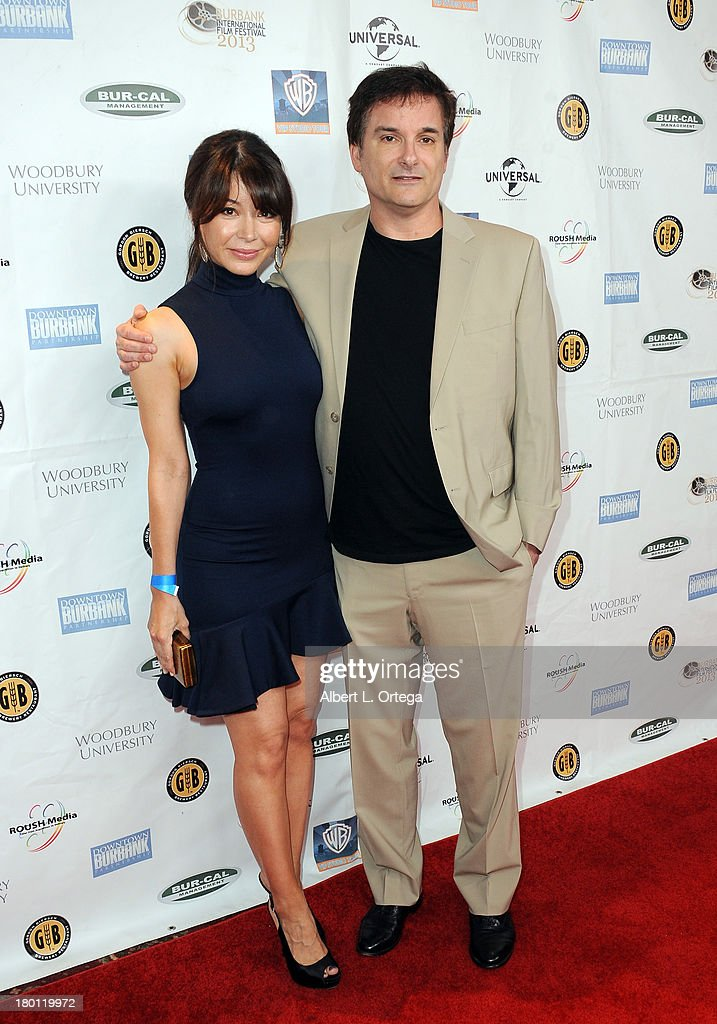 Actress Katherine Castro and director <a gi-track='captionPersonalityLinkClicked' href=/galleries/search?phrase=Shane+Black&family=editorial&specificpeople=810591 ng-click='$event.stopPropagation()'>Shane Black</a> arrive for The Burbank Film Festival - Closing Night Gala Dinner and Awards Ceremony held at Castaways on September 8, 2013 in Burbank, California.