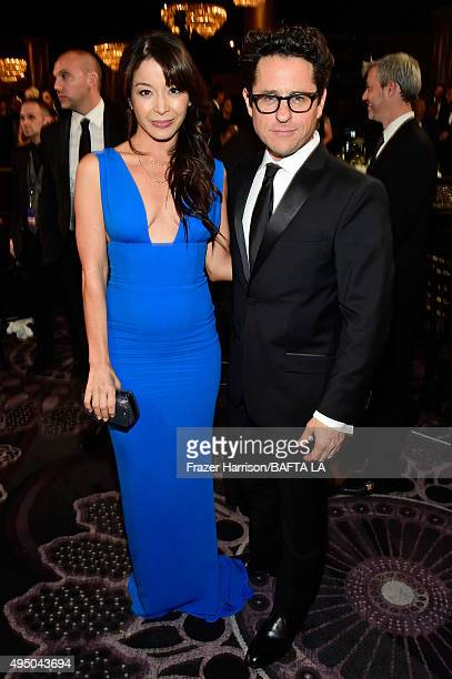 Actress Katherine Castro and director/producer JJ Abrams attend the 2015 Jaguar Land Rover British Academy Britannia Awards presented by American...