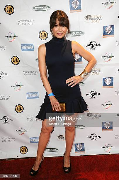 Actress Katherine Castro arrives for The Burbank Film Festival Closing Night Gala Dinner and Awards Ceremony held at Castaways on September 8 2013 in...