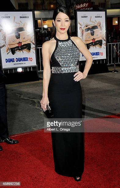 Actress Katherine Castro arrives for the Premiere Of Universal Pictures And Red Granite Pictures' 'Dumb And Dumber To' held at the Regency Village...