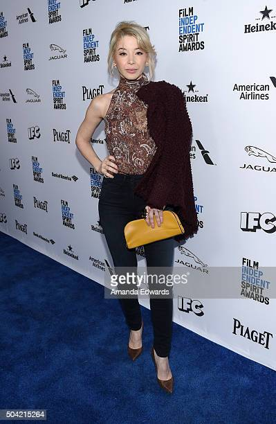 Actress Katherine Castro attends the 2016 Film Independent Filmmaker Grant and Spirit Award Nominees Brunch at BOA Steakhouse on January 9 2016 in...
