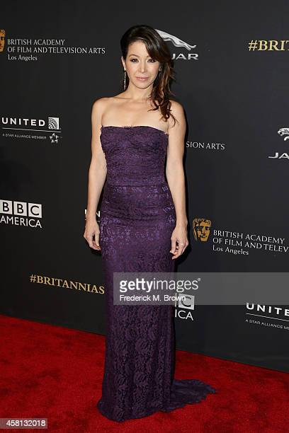 Actress Katherine Castro attends the BAFTA Los Angeles Jaguar Britannia Awards presented by BBC America and United Airlines at The Beverly Hilton...