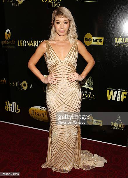 Actress Katherine Castro is seen at the IRIS Dominicana Movie Awards at the Teatro Nacional on August 21 2016 in Santo Domingo Dominican Republic