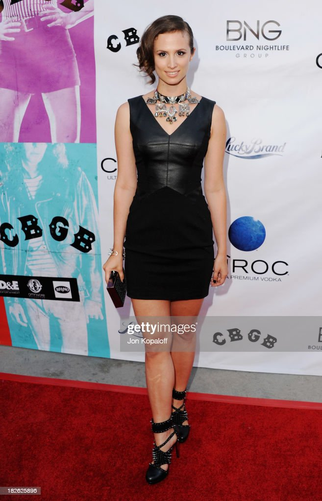Actress Katherine DuBois arrives at the Los Angeles Premiere 'CBGB' at ArcLight Cinemas on October 1, 2013 in Hollywood, California.