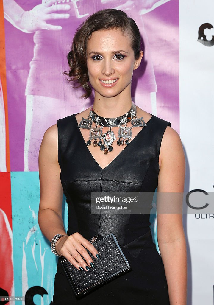 Actress Katherine DuBois attends a screening of Xlrator Media's 'CBGB' at ArcLight Cinemas on October 1, 2013 in Hollywood, California.