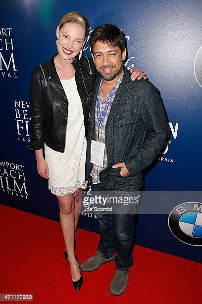 Actress Katherine Heigl and Director Alfonso GomezRejon attend the 2015 Newport Beach Film Festival for the 'Jackie Ryan' Premiere at Triangle Square...