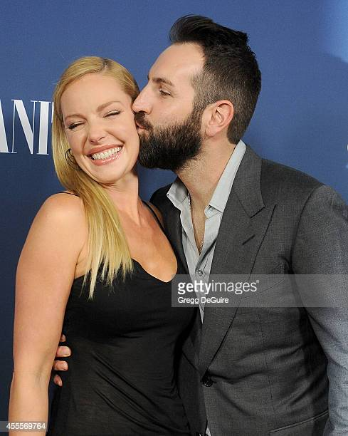 Actress Katherine Heigl and husband Josh Kelley arrive at the NBC And Vanity Fair 20142015 TV Season Red Carpet Media Event at HYDE Sunset Kitchen...
