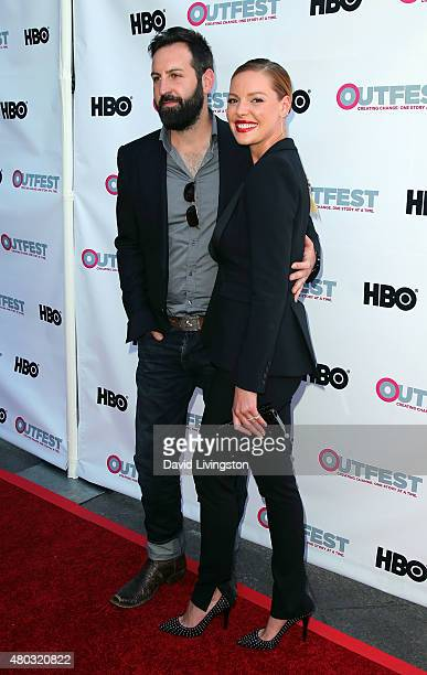 Actress Katherine Heigl and husband singer Josh Kelley attend the premiere of IFC Film's 'Jenny's Wedding' at the 2015 Outfest Los Angeles LGBT Film...