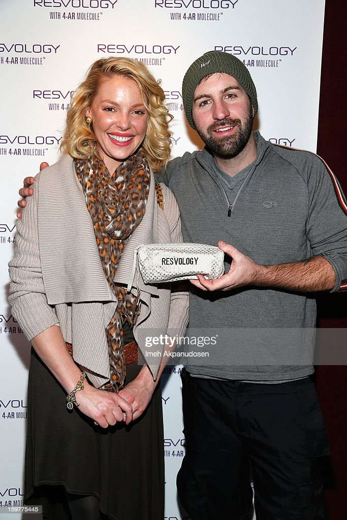 Actress Katherine Heigl and Josh Kelley attend Day 2 of Kari Feinstein Style Lounge on January 19, 2013 in Park City, Utah.