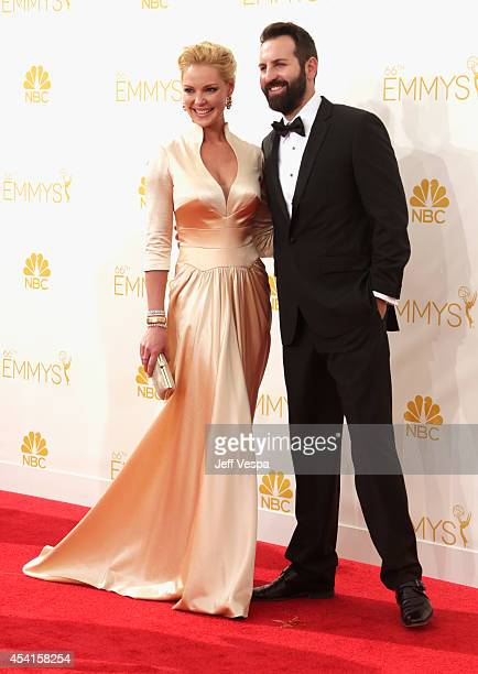 Actress Katherine Heigl and Josh Kelley attend the 66th Annual Primetime Emmy Awards held at Nokia Theatre LA Live on August 25 2014 in Los Angeles...