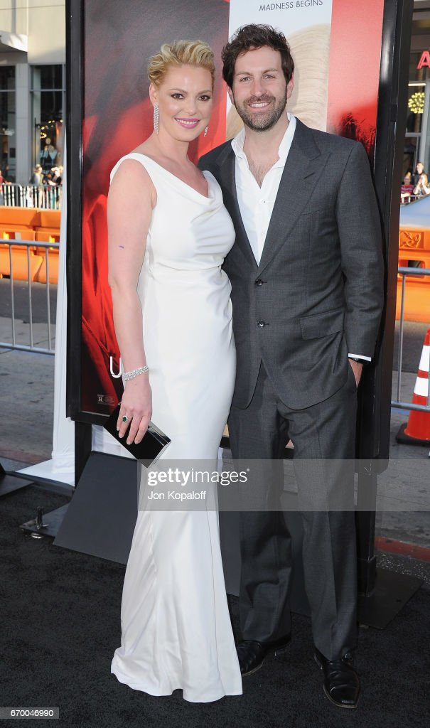 Actress Katherine Heigl and singer Josh Kelley arrive at the Los Angeles Premiere 'Unforgettable' at TCL Chinese Theatre on April 18, 2017 in Hollywood, California.