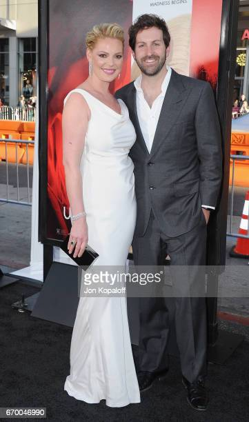 Actress Katherine Heigl and singer Josh Kelley arrive at the Los Angeles Premiere 'Unforgettable' at TCL Chinese Theatre on April 18 2017 in...