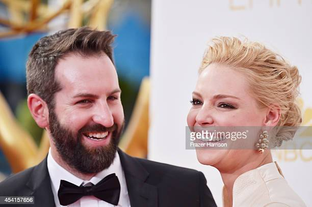 Actress Katherine Heigl and singer Josh Kelley attend the 66th Annual Primetime Emmy Awards held at Nokia Theatre LA Live on August 25 2014 in Los...
