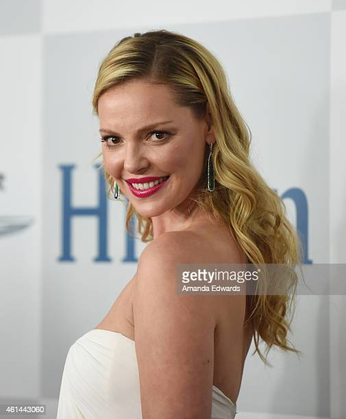 Actress Katherine Heigl arrives at NBCUniversal's 72nd Annual Golden Globes After Party at The Beverly Hilton Hotel on January 11 2015 in Beverly...