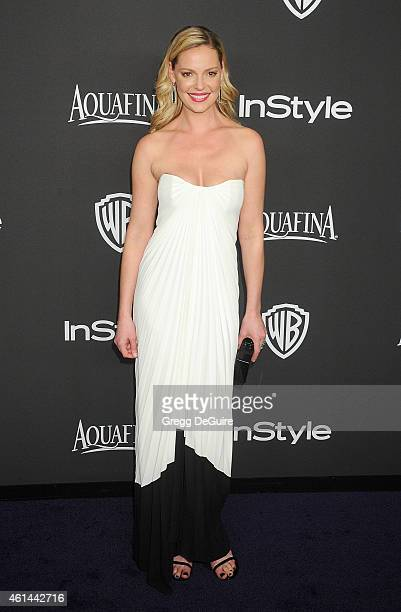 Actress Katherine Heigl arrives at the 16th Annual Warner Bros And InStyle PostGolden Globe Party at The Beverly Hilton Hotel on January 11 2015 in...