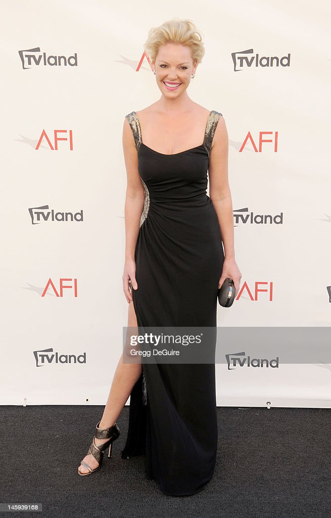 Actress Katherine Heigl arrives at the 40th AFI Life Achievement Award honoring Shirley MacLaine at Sony Studios on June 7, 2012 in Los Angeles, California.