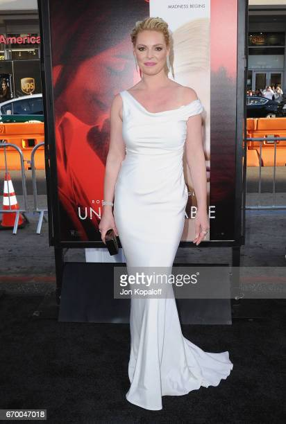 Actress Katherine Heigl arrives at the Los Angeles Premiere 'Unforgettable' at TCL Chinese Theatre on April 18 2017 in Hollywood California
