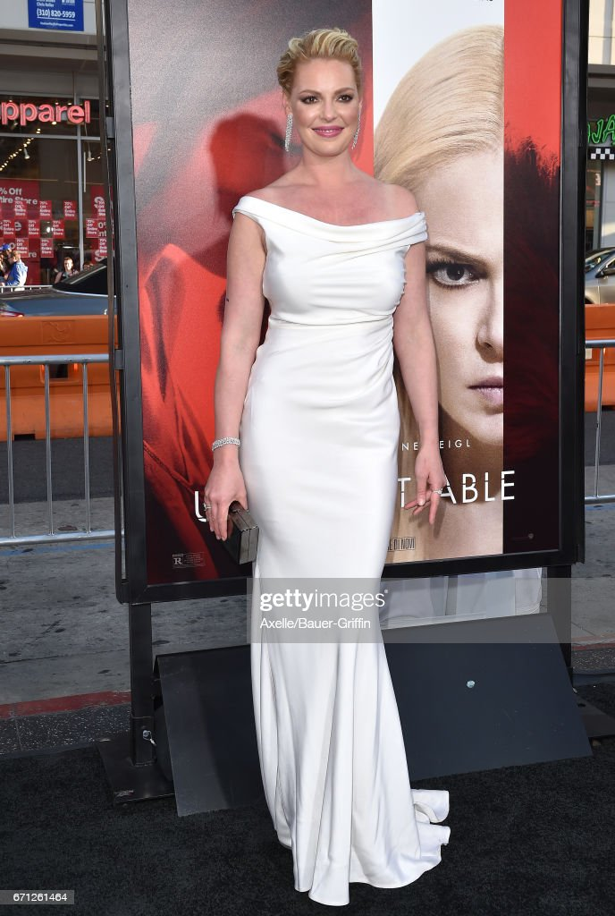 Actress Katherine Heigl arrives at the premiere of Warner Bros. Pictures' 'Unforgettable' at TCL Chinese Theatre on April 18, 2017 in Hollywood, California.