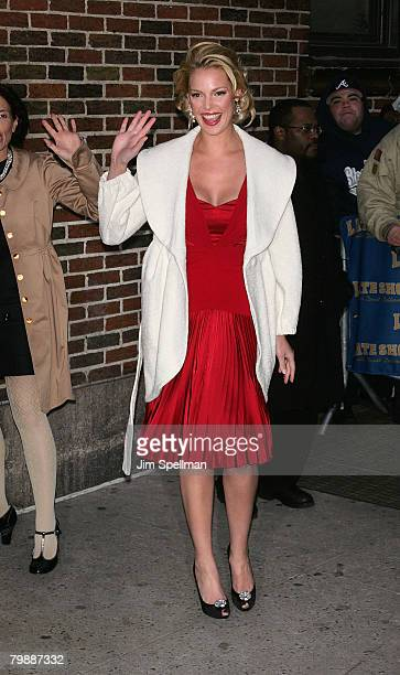 Actress Katherine Heigl arrives at the 'The Late Show with David Letterman' at the Ed Sullivan Theater on January 16 2008 in New York City