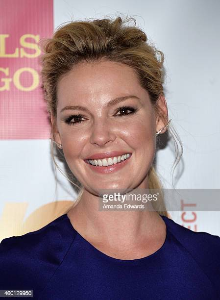 Actress Katherine Heigl arrives at the TrevorLIVE Los Angeles benefit event at the Hollywood Palladium on December 7 2014 in Los Angeles California