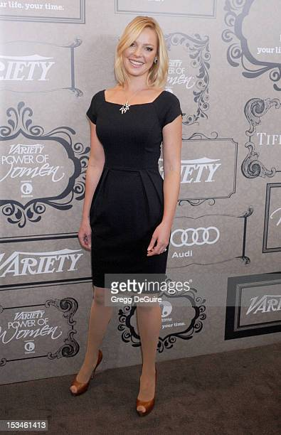 Actress Katherine Heigl arrives at Variety's 4th Annual Power Of Women event at the Beverly Wilshire Four Seasons Hotel on October 5 2012 in Beverly...