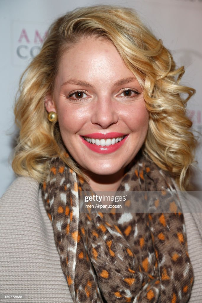Actress <a gi-track='captionPersonalityLinkClicked' href=/galleries/search?phrase=Katherine+Heigl&family=editorial&specificpeople=206952 ng-click='$event.stopPropagation()'>Katherine Heigl</a> attends Day 2 of Kari Feinstein Style Lounge on January 19, 2013 in Park City, Utah.