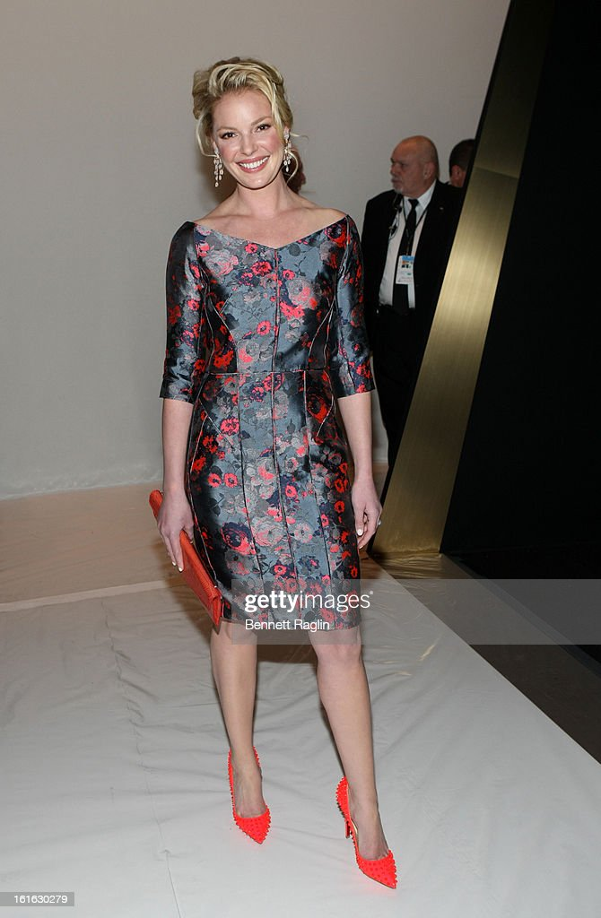 Actress Katherine Heigl attends J. Mendel during Fall 2013 Mercedes-Benz Fashion Week at The Theatre at Lincoln Center on February 13, 2013 in New York City.
