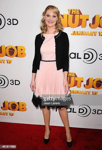 Actress Katherine Heigl attends the premiere of 'The Nut Job' at Regal Cinemas LA Live on January 11 2014 in Los Angeles California