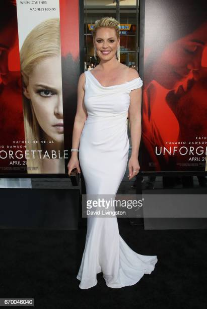 Actress Katherine Heigl attends the premiere of Warner Bros Pictures' 'Unforgettable' at TCL Chinese Theatre on April 18 2017 in Hollywood California