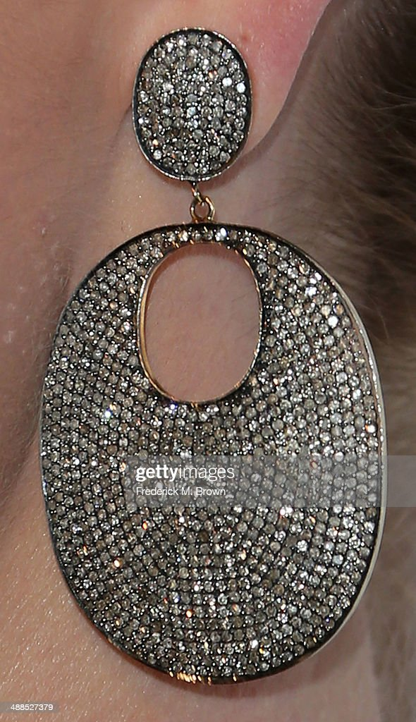 Actress Katherine Heigl (earring detail) attends the Stars Celebrate the ASPCA's Commitment to Los Angeles on May 6, 2014 in Beverly Hills, California.