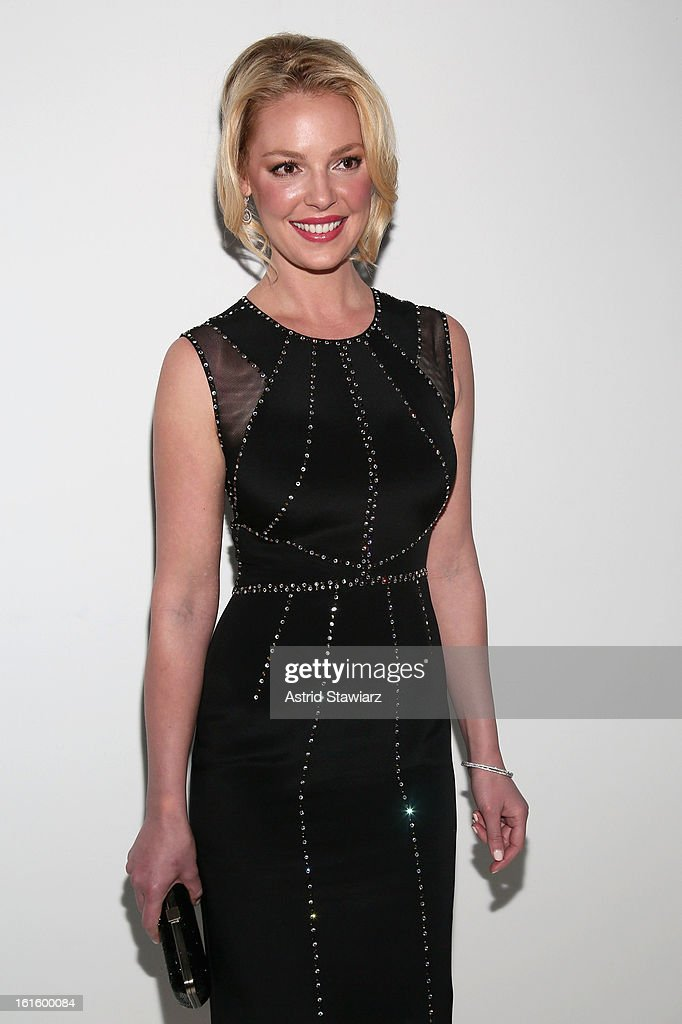 Actress Katherine Heigl attends the TRESemme At Jenny Packham Fall 2013 fashion show during Mercedes-Benz Fashion Week at The Studio at Lincoln Center on February 12, 2013 in New York City.