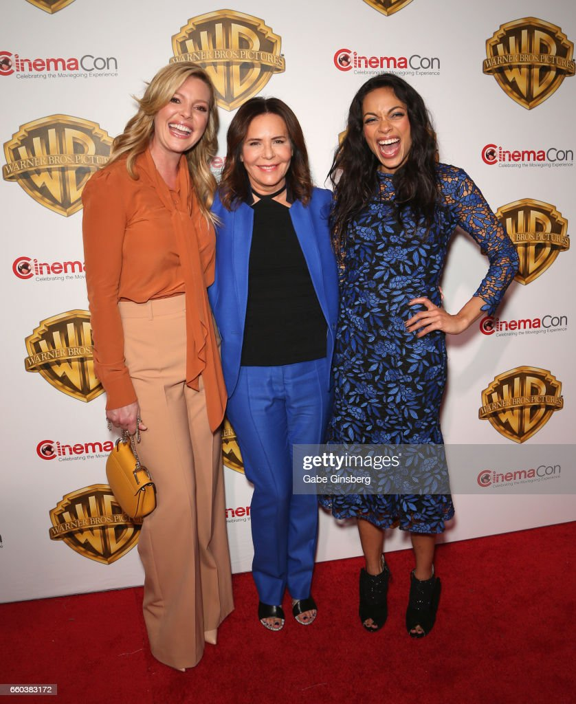 Actress Katherine Heigl, director Denise Di Novi and actress Rosario Dawson attend the Warner Bros. Pictures presentation during CinemaCon at The Colosseum at Caesars Palace on March 29, 2017 in Las Vegas, Nevada.